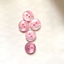 15mm Two Hole Self Stripe Buttons x 10